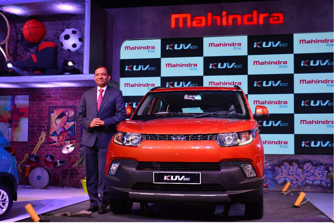 Mahindra drives into an all new segment with the young SUV, KUV100